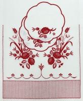 """Венчальный набор  """"Красные цветы"""""""