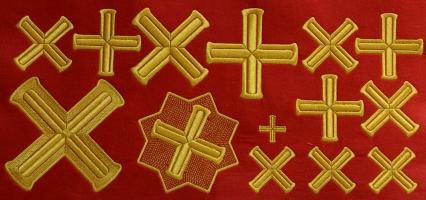 """Набор крестов для иерейского облачения """"Греция"""""""