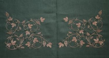 Оплечье фелони вышивка шелком на льне. Купон для шитья