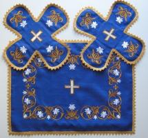 Воздух и покровцы «Лилии Мария». Лен цвет синий